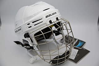Bauer Re-Akt 75 Hockey Helmet with cage - White size Large