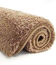 Suchtale Bathroom Rug Non Slip Bath Mat for Bathroom (16 x 24, Sand) Water Absorbent Soft Microfiber Shaggy Bathroom Mat M...