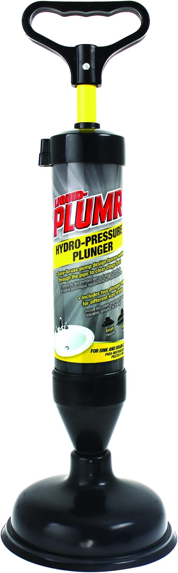 Liquid-Plumr 670087 Hydro-Pressure Plunger, Gray