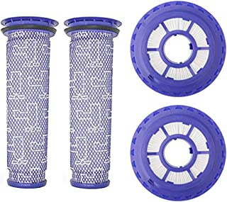 Fette Filter Combo Pack Vacuum Filters | Contains 2 HEPA Post Filter & 2 Pre-Filters Compatible with Dyson DC41, DC65, DC66 Vacuum Cleaners, Compare to Part #920769-01 & #920640-01