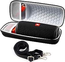 Case for JBL Flip 5 Waterproof Portable Bluetooth Speaker, Travel Storage Bag Fits for JBLflip 4, USB Cable and Adapter - Black