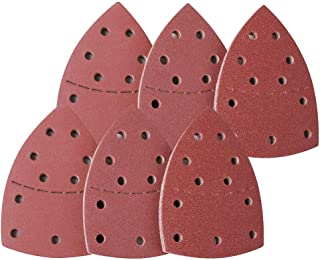 Yixi 60PCS Mouse Sandpaper Sanding Sheets 40-240 Grit Sandpaper Fit for Bosch Multi-Sander PSM 100A, PSM 200 AES, PSM 18 and All Oscillating Multi-Tool