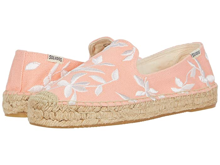 Soludos  Shiloh Embroidered Espadrille (Living Coral) Womens Shoes