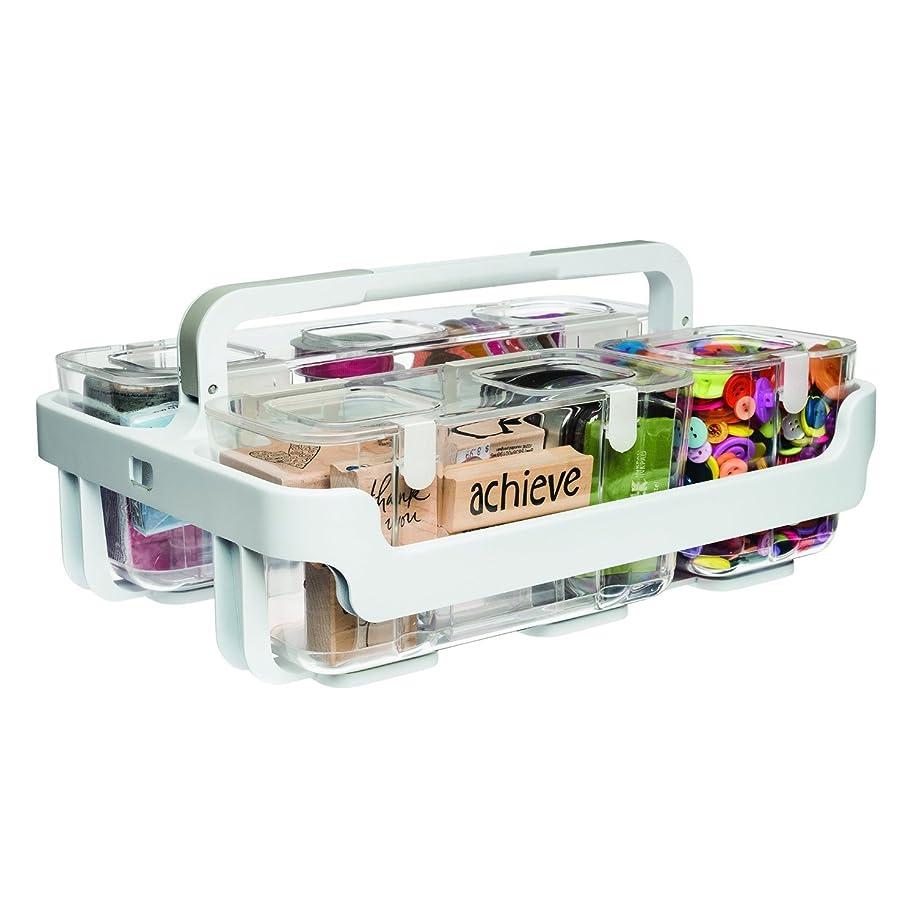 Deflecto Caddy Organizer, Three Compartments, White (29003CR)