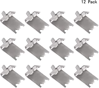 Lindong 12 Pack 920158 Freezer Shelf Clip Kit Stainless Steel Square Shelf Clip for Refrigerator