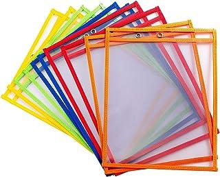 comprar comparacion bolsillos de borrado en seco Escribir y limpiar bolsillos reutilizable escribir y limpiar bolsillos, varios colores Ideal ...