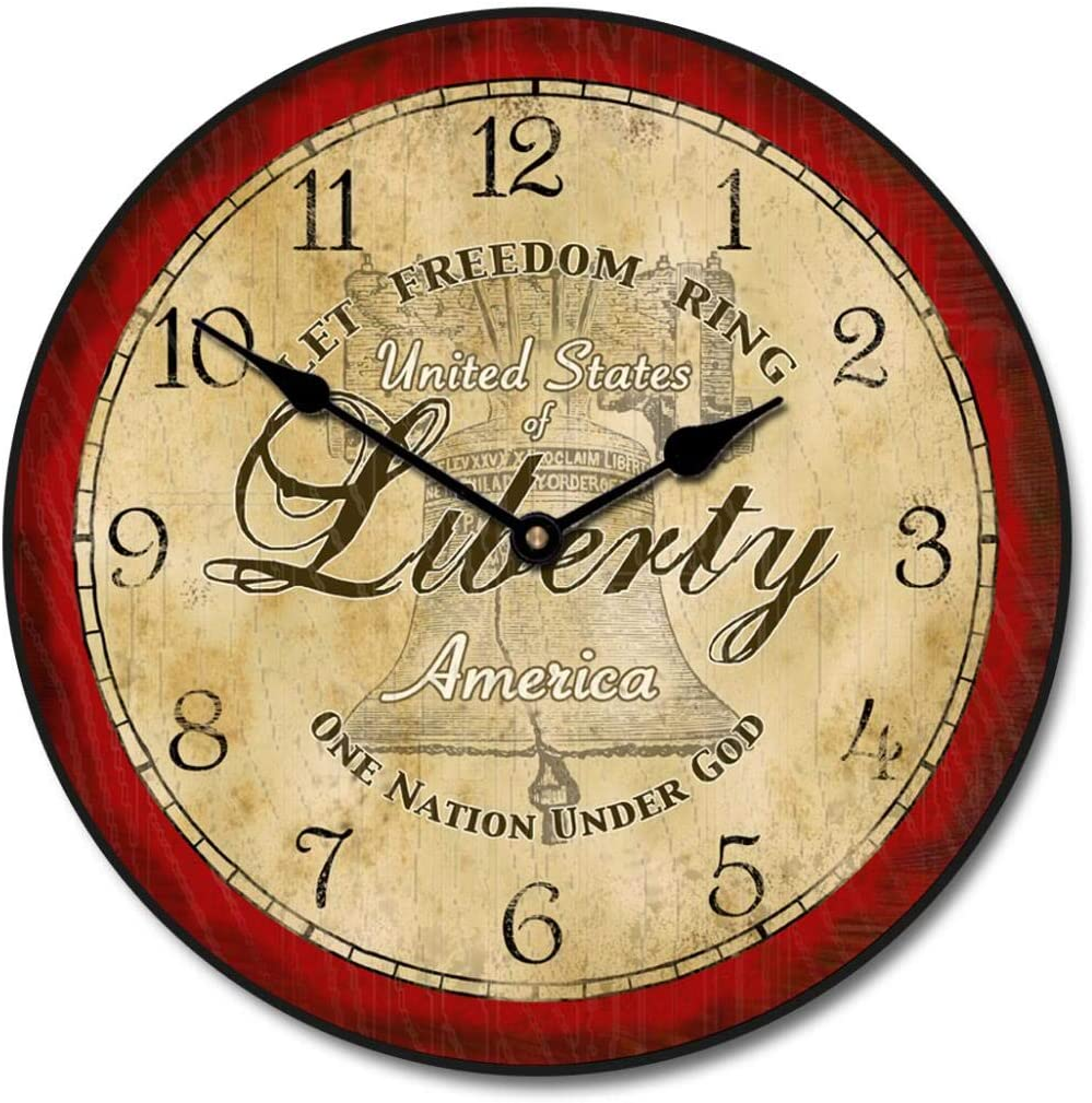 Liberty Wall Clock Available in Surprise price 8 Ship 2-3 Sizes Most Da Direct store