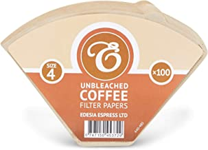 Size 4 / 4K Coffee Filter Paper Cones, Factory Sealed - Pack of 100
