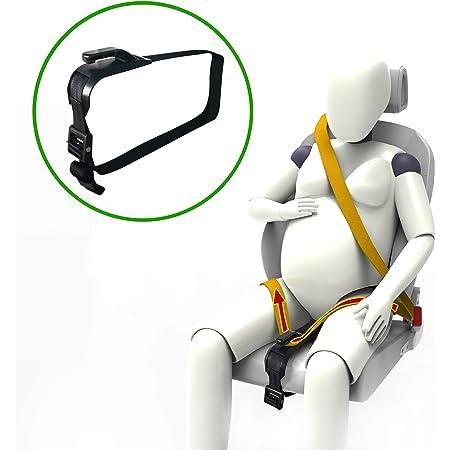 ZUWIT Ajustador de cinturón de Seguridad para Mujeres Embarazadas, Comodidad para el Vientre de Las Madres Embarazadas, un cinturón de protección imprescindible para Las Madres Embarazadas (Negro)