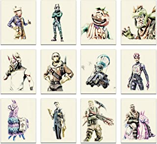 Battle Royale Poster Wall Art Decor - Set Of 12 ( 8x10 Inches ) - Video Gaming Boys Room Decorations - ( UNFRAMED )