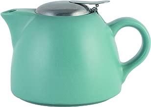 La Cafetière Barcelona 900ml / 30 fl oz Ceramic Teapot with Removable Tea Strainer/Infuser - Retro Blue