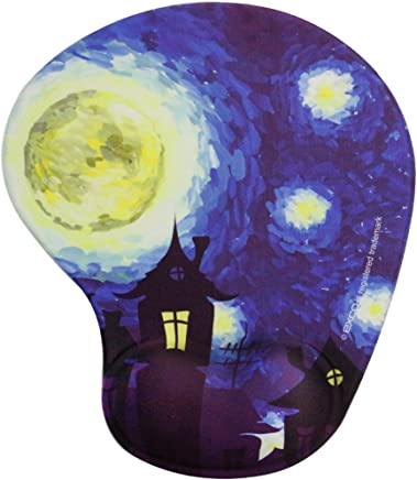 exco Blue Starry Sky-excovip 3D Silicone Rest o Mouse Pad Gel Rest Mouse Pad