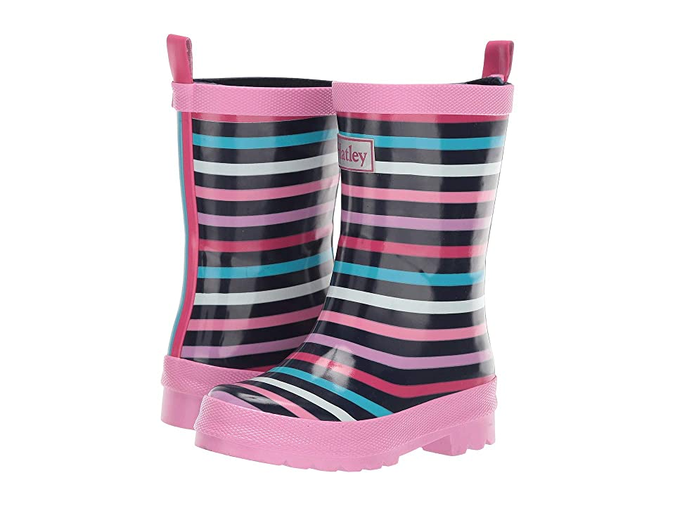 Hatley Kids Limited Edition Rain Boots (Toddler/Little Kid) (Colourful Stripes) Girls Shoes