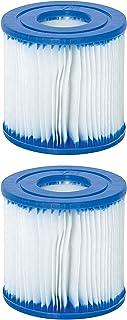 GAODA Elemento de filtro de piscina para Bestway tipo VII e Intex D, cartuchos fáciles de usar, filtro inflable de piscina, filtro eficiente para limpieza de alberca de tubos. (2 unidades)