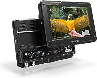 LILLIPUT 3D LUT 4K HDMI 3G-SDI 入力/出力 7インチ フルーHD 4Kオンーカメラモニター 1920x1080 LCDモニター 1800cd /㎡ カメラフィールドモニター (H7S)