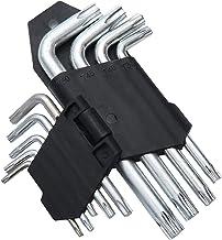 مجموعة مفاتيح سداسية الشكل لون فضي مكونة من 9 قطع