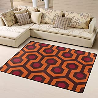 MODREACH Super Soft Indoor Modern Rug Smooth Rugs Fluffy Shaggy Area Rug - Stain Resistant Dining Room Home Bedroom Living Room Carpet (63 x 48 inches, Overlook Hotel)