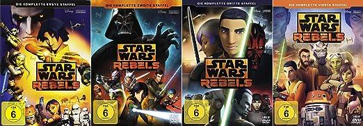 Star Wars Rebels Staffel 1-4 (1+2+3+4, 1 bis 4) Die Komplette Serie [DVD Set]