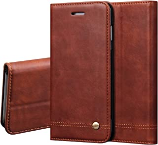 LBYZCASE Case for Xiaomi Mi 9T/Mi 9T Pro,Folding Flip Leather Wallet Shockproof Protective Phone Cover with Card Slots Kickstand Magnetic Closure for Xiaomi Mi 9T/Mi 9T Pro/Redmi K20/K20 Pro (Brown)