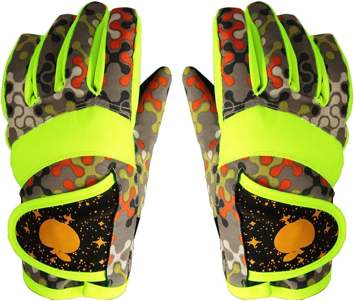 Gants polaire doux /étanche ajustable Gants Surface imperm/éable pour enfants plein air sports Ski Snowboard iEay Gants chauds dhiver pour enfants de 4 /à 9 ans