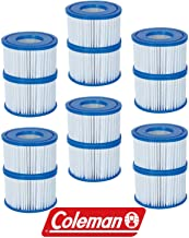 Bestway 12 Pack Coleman Type VI Spa Filter Cartridge for Lay-Z-Spa 90352
