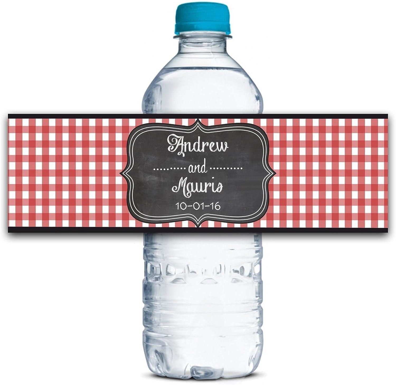 Hochzeit Wasserflasche Etiketten Wasserdicht Individuelle Selbstklebende Hochzeitsdekor Aufkleber 8  X 2  Zoll -50 Etiketten B01G594UMS  | Abrechnungspreis