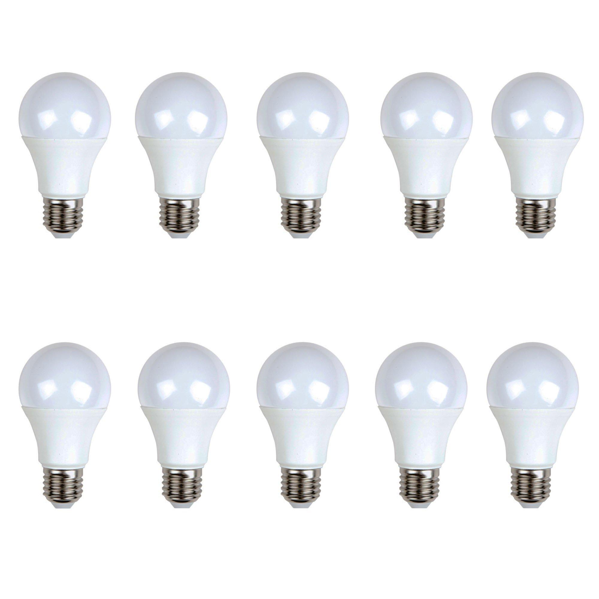 LED estándar (pack 10 unidades) 10W 200º Blanco cálido 3000K E27 805lm 220V-240v Alta calidad: Amazon.es: Iluminación