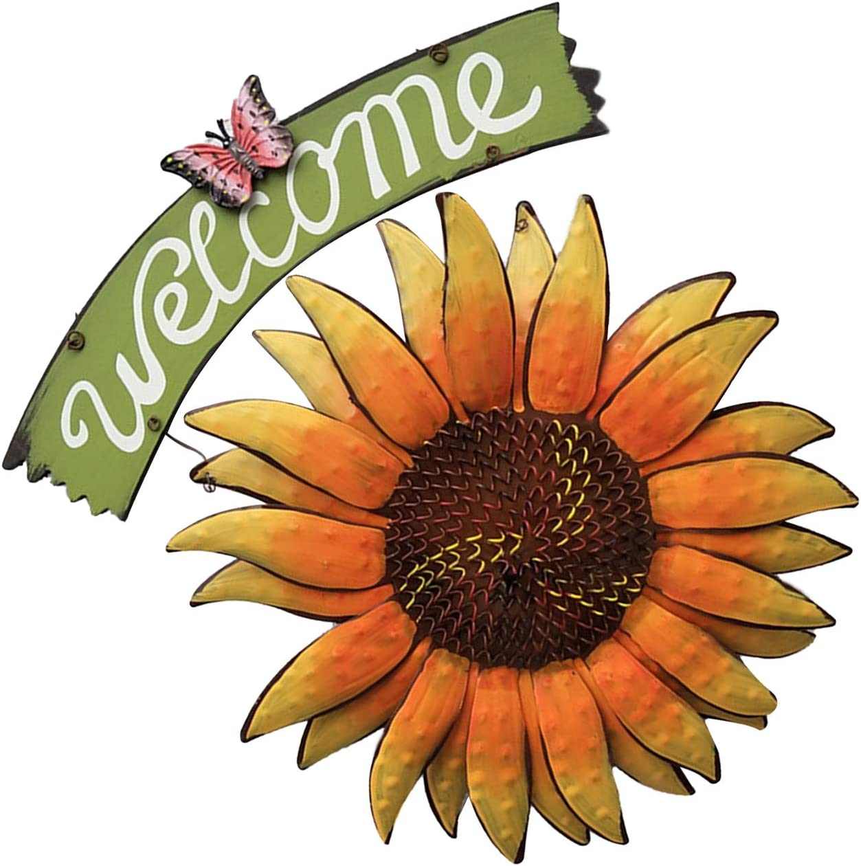 Owlike Sunflower Welcome Great interest Sign Vintage Decor Style Garden fo Home New color