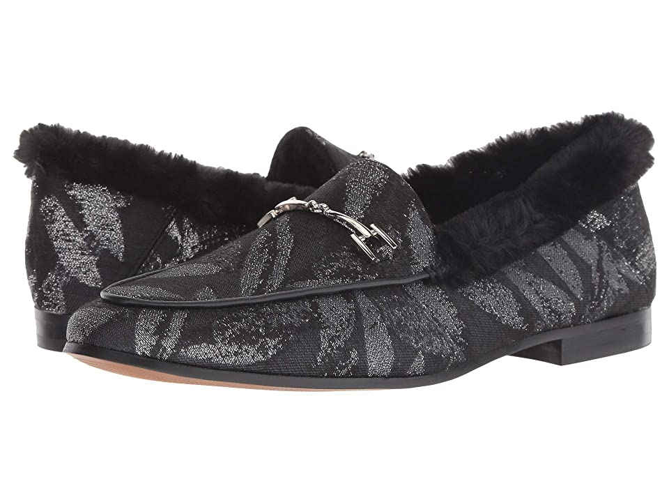 Sam Edelman Loraine (Silver Multi/Black Venetian Leaf Jacquard/Short Plush Fur) Women