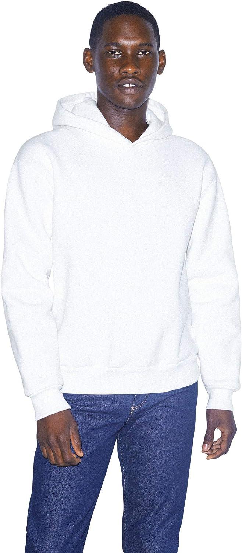 American Apparel Men's Mason Fleece Long Sleeve Pullover Hoodie
