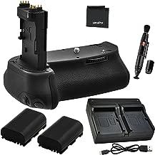 Battery Grip Bundle F/Canon EOS 6D: Includes BG-E13 Replacement Grip, 2-Pk LP-E6 / LP-E6N Long-Life Batteries, Dual Charger, UltraPro Accessory Bundle