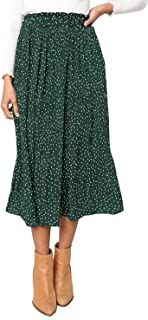 PRETTYGARDEN Women's Fashion High Elastic Waist Polka Dot...