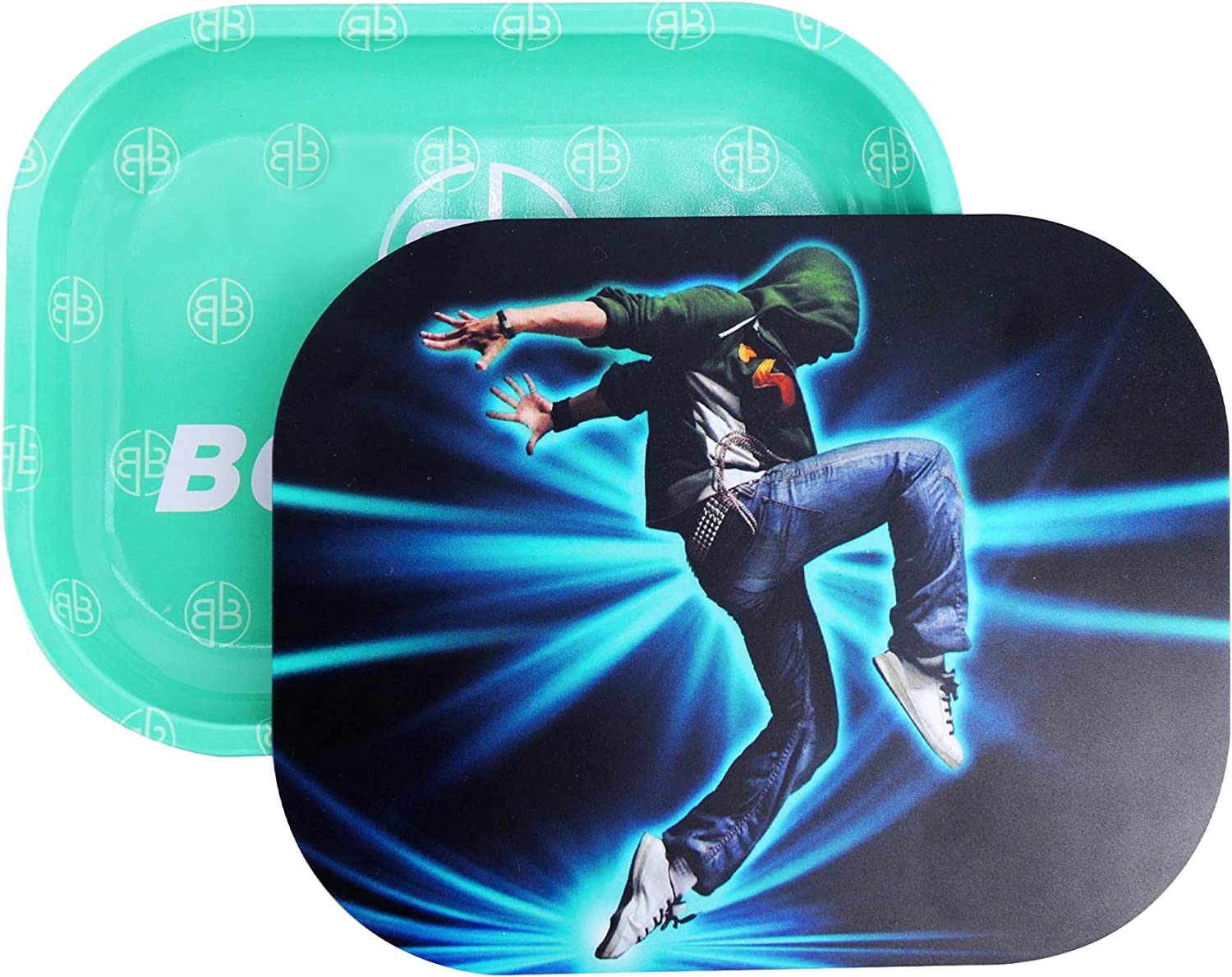 BOUNOUS Mini Max 84% OFF Metal Rolling Tray - PV Deluxe with Cigarette
