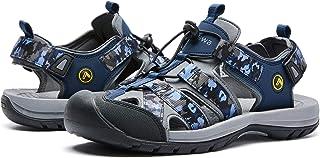 صنادل المشي للرجال مغلقة من الأمام قابلة للتعديل أحذية رياضية في الهواء الطلق للرياضيين الصيادين على الشاطئ المشي