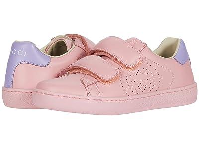 Gucci Kids New Ace Sneaker (Little Kid) (Wild Rose/Lapis) Girl