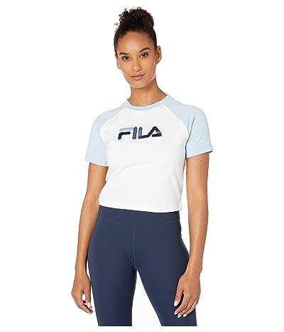 Fila Salma Tee (White/Cashmere Blue/Peacoat) Women