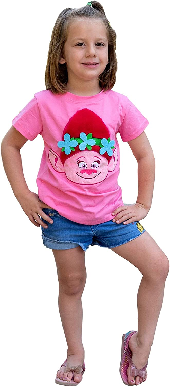 New color ComfyCamper Pink Princess Embroidered Girls Shirt Character Latest item for