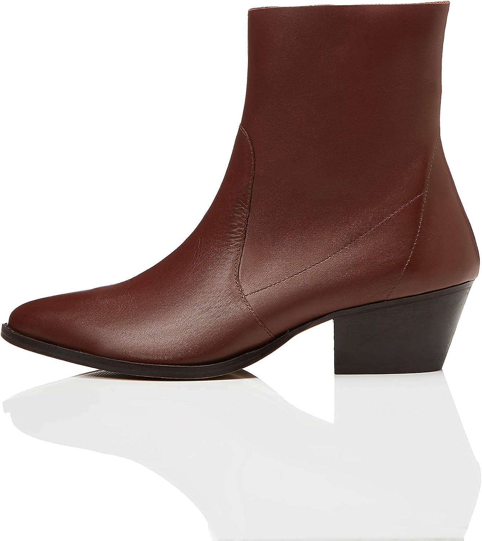 Find. Unlined Western Leather Damen Stiefeletten