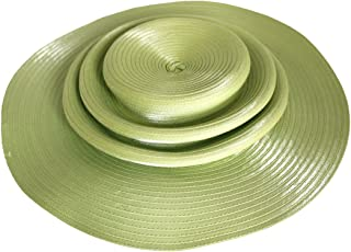 Mr. Song Millinery Satin-CRIN 3-Tier Wide Brim Hat Body - Assorted Colors (UNTRIMMED HAT ONLY) 717