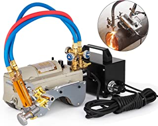Mophorn CG2-11 Magnetic Tunnel Pipe Gas Cutting Machine 5-50mm Torch Beveling Gas Cutter Precise Pipe Cutting Machine Efficient Pipe Beveling Machine Tube Pipe Cutter Tool 220V