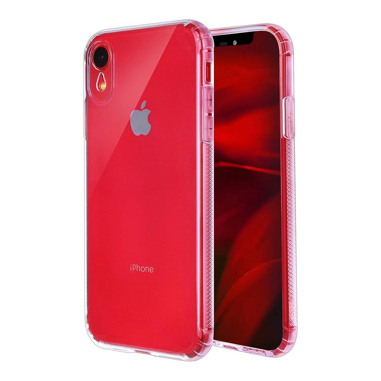 ZEAKOC iPhone XR ケース クリア TPU スマホカバー 耐衝撃 滑り止め 全透明 全面保護 薄型 指紋防止 ワイヤレス充電対応 ストラップホール付き(6.1インチ iPhone XR用)