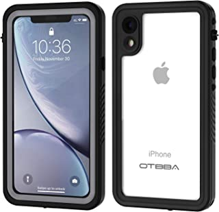 OTBBA iPhone XR Waterproof Case, Full Body Sealed Waterproof Shockproof Snowproof Dirtproof Underwater Protective Case Compatible for XR (Clear)