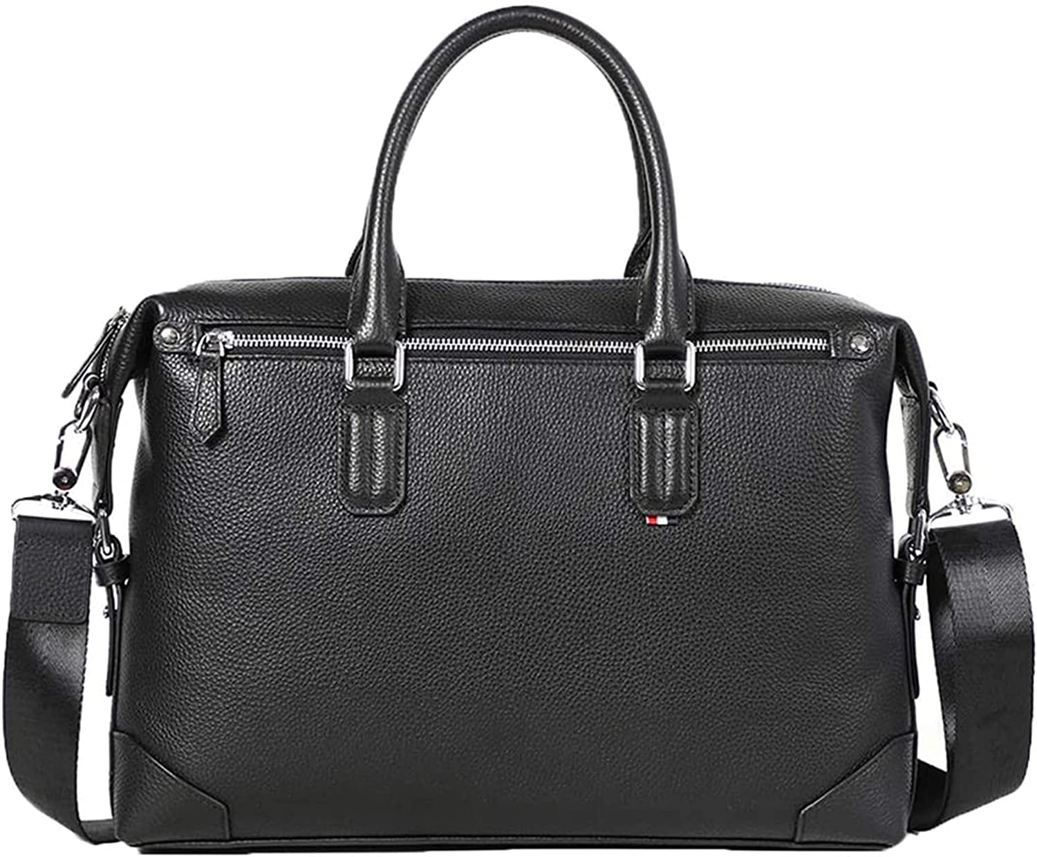 Men Genuine Leather Be super welcome Briefcase Shoulder Indianapolis Mall Comp Bags Multiple Travel