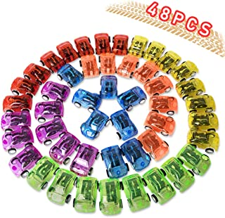 HomeMall 48Pcs Pull Back Cars, Pull Back Racing Vehicles Mini Car Toys for Kids Birthday Party Favors Prizes Box Toy Pinata Fillers