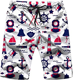 Sailing Elements Marine S Men'S Swim Trunks and Workout Shorts Swimsuit Or Athletic Shorts - Adults Boys