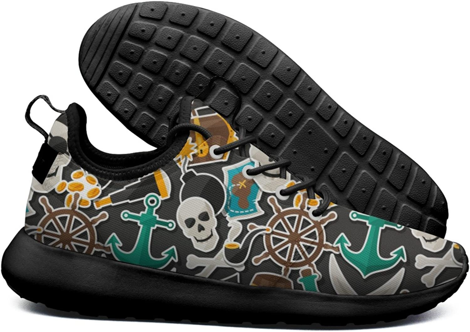 ERSER Pirate Theme Skull Anchor Minimalist Running shoes Women Road