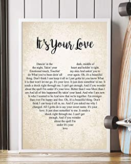"Mattata It`s Your Love Lyrics Poster Print (12"" x 18"")"