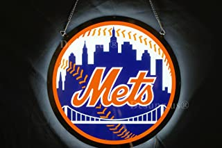 Desung.us Revolutionary Sports Union NYMets LED Neon Light Sign 3D Vivid Design Decorate 3rd Generation Sign 14''x14'' LEAN05S-The Best replacement for regular neon signs!