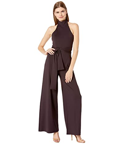 Susana Monaco High Neck Halter Jumpsuit (Chianti) Women