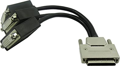 VHDCI Breakout Cable&Adapter-VHDCI(SCSI 68Pin) M to 3-Port DVI-D(24+1) F Splitter Breakout Cable for NVIDIA and VisionTek Graphics Cards